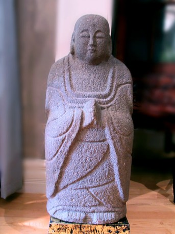 Jizo Bosatsu, Stone Sculpture. Meiji period, Japan.