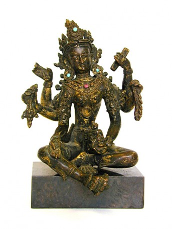 Bronze figure of Vasudhara, Nepal
