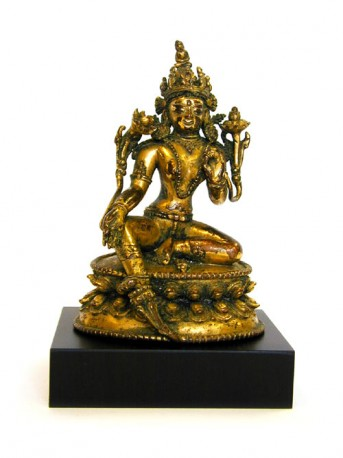 Gilded bronze figure of Tara, Tibet