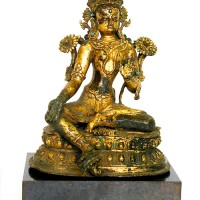 Gilded bronze figure of Tara, Nepal
