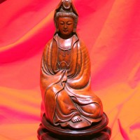 Beautiful hardwood seated figure of Guanyin